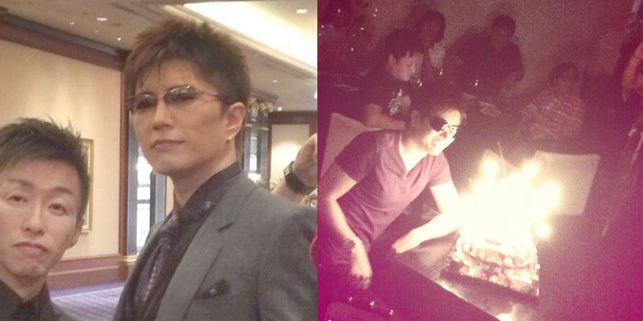 yohios födelsedag GACKT with Yohio and Takeshi Nakano on his 41st Birthday   GACKT  yohios födelsedag