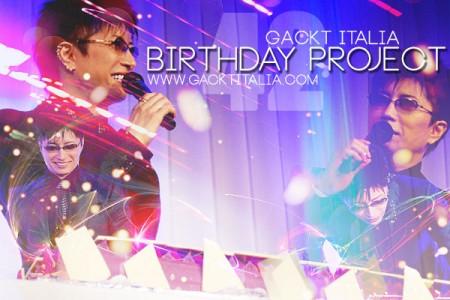 GACKT ITALIA 2015 Birthday Project