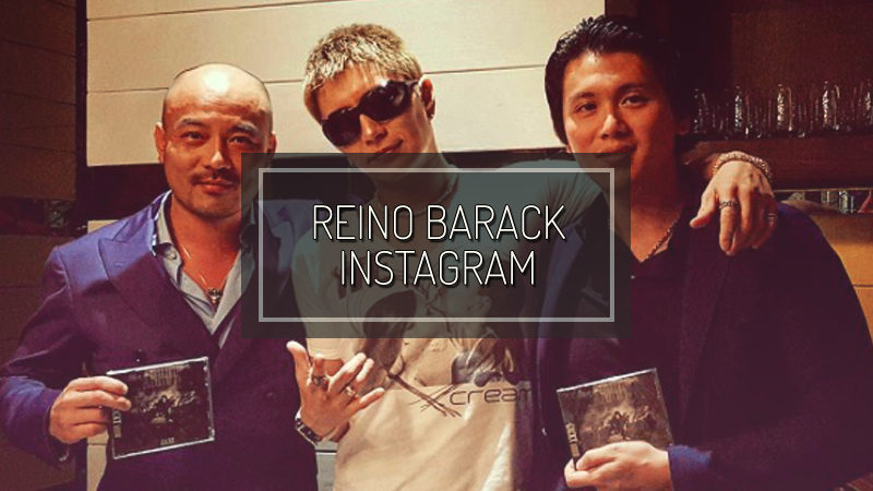 REINO BARACK INSTAGRAM: DINNER WITH GACKT