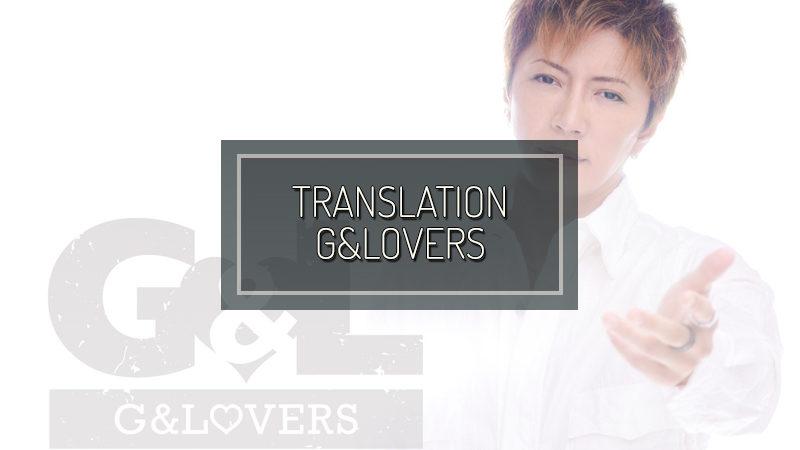 G&LOVERS: STAFF BLOG GOODS stand in acrilico di GACKT in vendita!