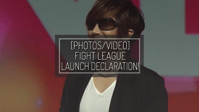 [PHOTOS/VIDEO] FIGHT LEAGUE LAUNCH DECLARATION!