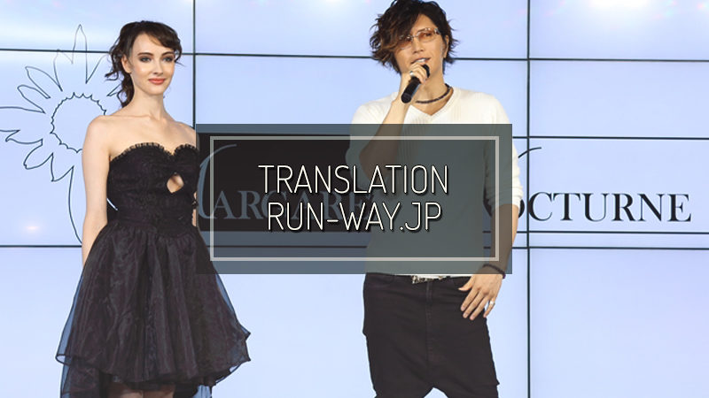 RUN-WAY.JP: Pre-orders start on dazzy for the new brand of party dresses produced by GACKT!