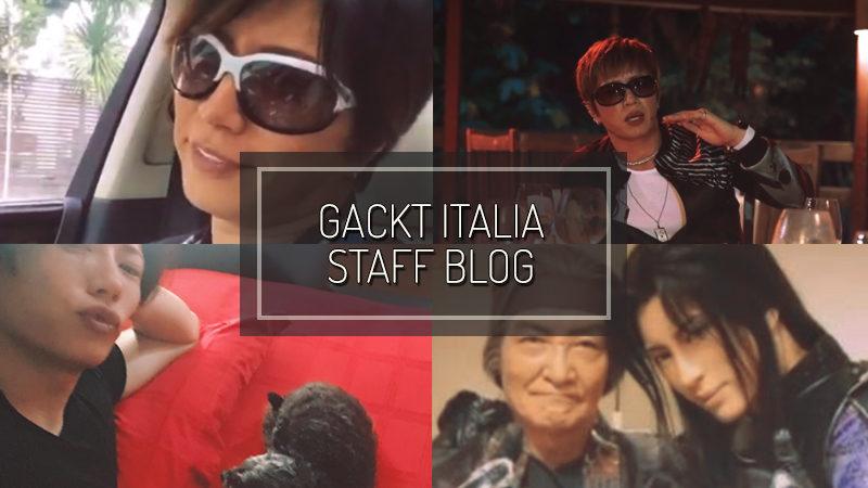 GACKT ITALIA STAFF BLOG – OCT 08 2017