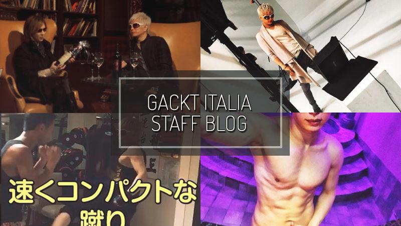 GACKT ITALIA STAFF BLOG – NOV 26 2017