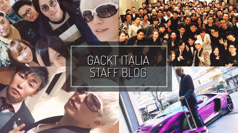 GACKT ITALIA STAFF BLOG – JAN 28 2017