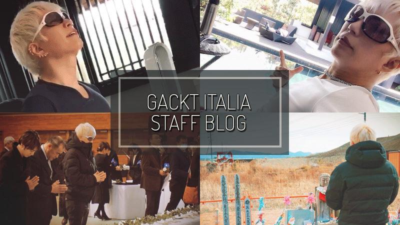 GACKT ITALIA STAFF BLOG – MAR 18 2017