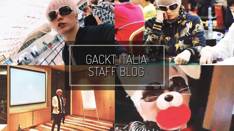 GACKT ITALIA STAFF BLOG – MAR 25 2017