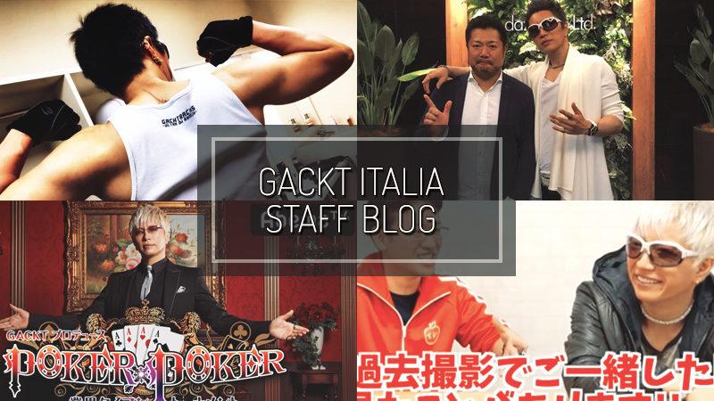 GACKT ITALIA STAFF BLOG – MAY 06 2018