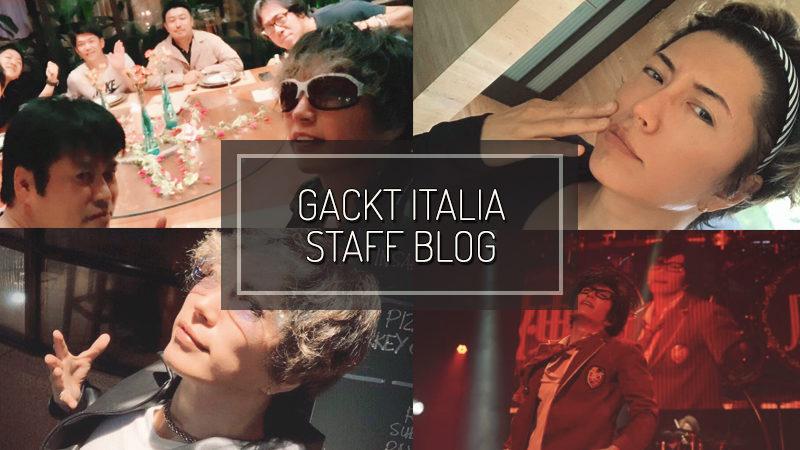 GACKT ITALIA STAFF BLOG – NOV 11 2018