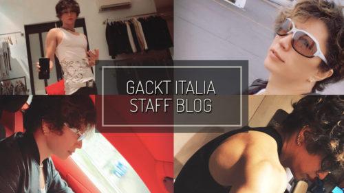 GACKT ITALIA STAFF BLOG – DEC 09 2018