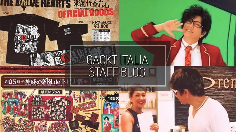 GACKT ITALIA STAFF BLOG – SEP 29 2019