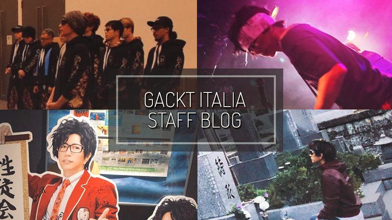 GACKT ITALIA STAFF BLOG – OCT 27 2019