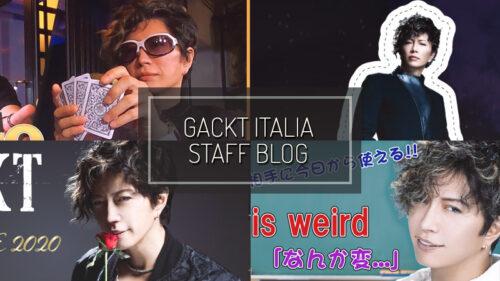 GACKT ITALIA STAFF BLOG – NOV 29 2020